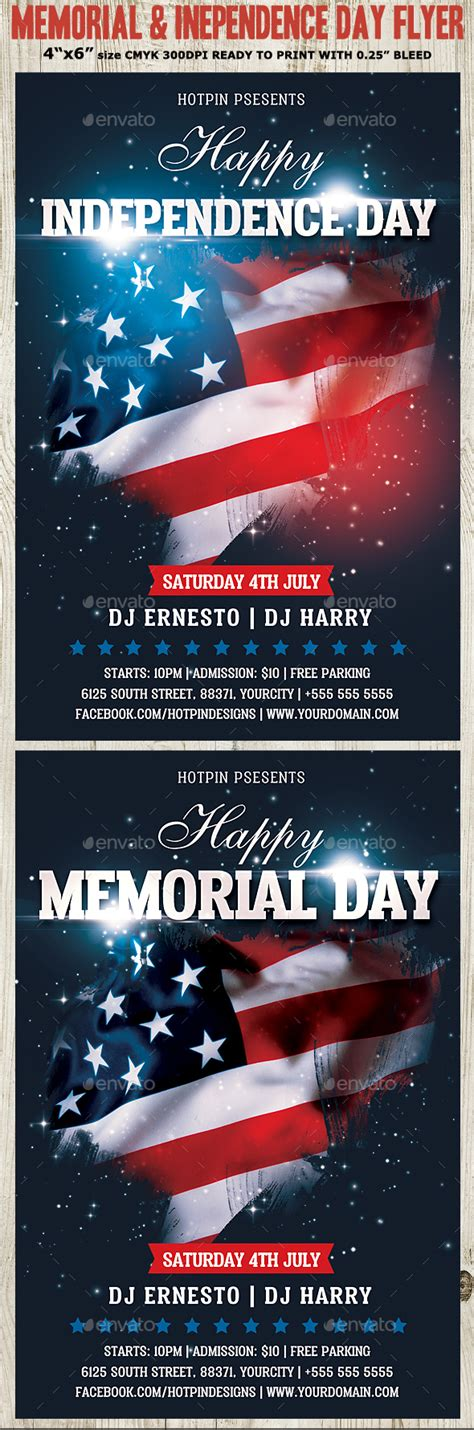 Memorial Independence Day Flyer Template By Hotpin Graphicriver Memorial Flyer Template