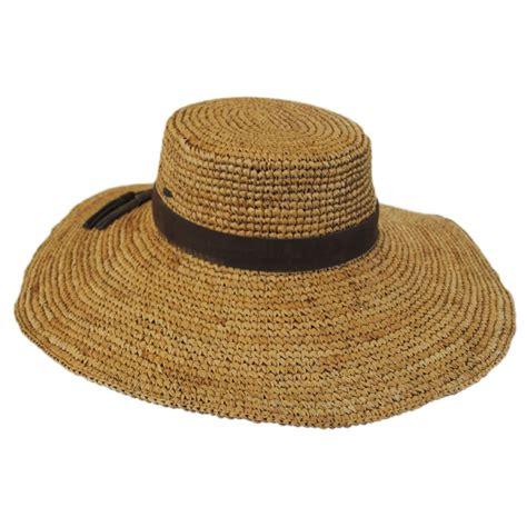 Kaos One Straw Hat scala organic raffia straw wide brim boater hat straw hats