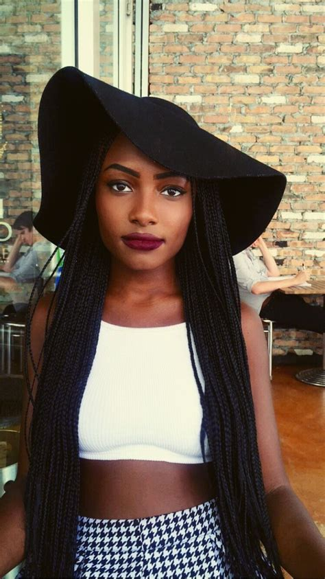 box braids with a beach hat a beautiful sister rocking the quot clueless quot look 20 quot of
