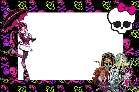 monster high printable party decorations monster high free printable party invitations is it