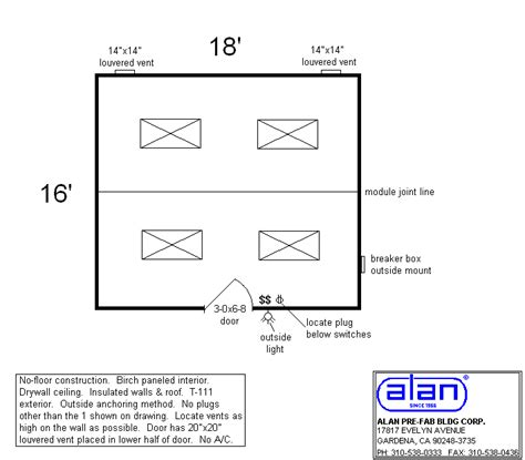 Alans Plans Com by Alan Pre Fab Building Custom Modular Buildings Since