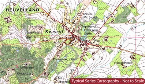 belgium topographic map belgium 20k topographic survey maps stanfords