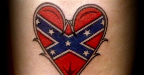 rebel yell tattoo rebel flag made with fish hooks tattoos