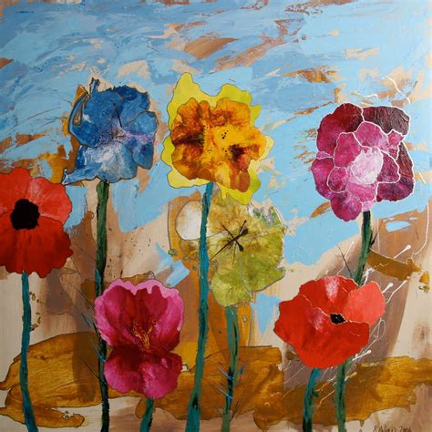 acrylic painting acrylic paintings by wiese flower paintings