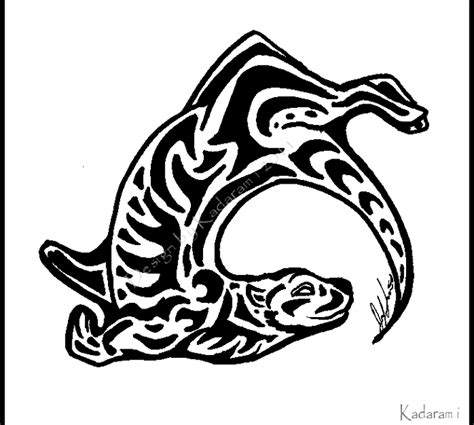 tribal otter tattoo tribal otter by kadarami on deviantart