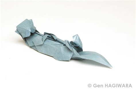 Origami Otter - origami sea otter by h on deviantart