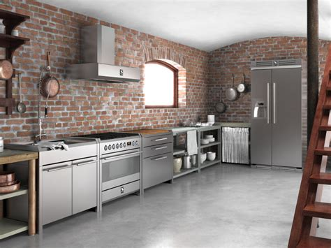 modulo cucina modulo cucina freestanding in acciaio inox e legno sintesi