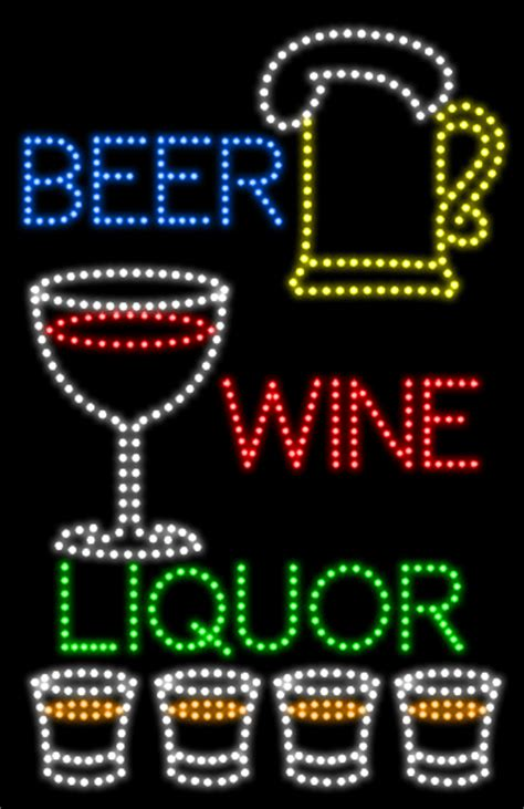 liquor signs beer wine liquor animated led sign beer led signs every