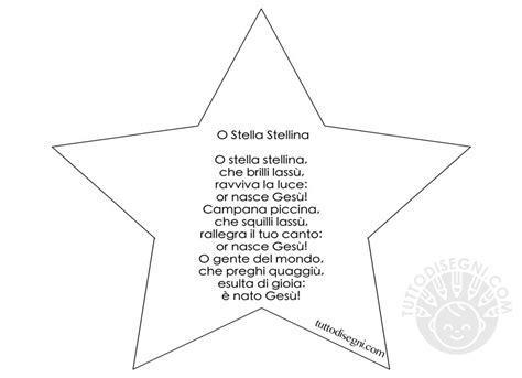 stella testo filastrocche natale o stella stellina tuttodisegni