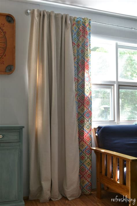 window cloth curtains diy drop cloth curtains modified for a large window