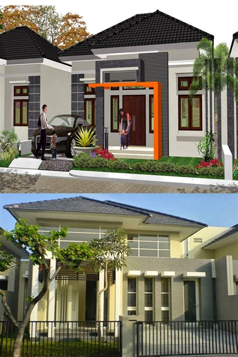warna cat rumah minimalis  teras kumpulan desain rumah