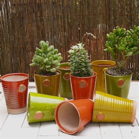Outdoor Plant Pots Lieberman Pottery Glazed Ceramic Pots Eclectic Outdoor