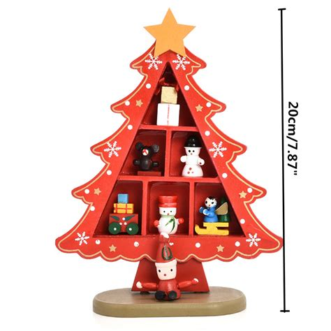 great christmas decorations to make desk table top mini wooden tree decorations ornaments decor ebay