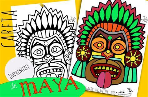 Imagenes De Los Mayas Para Imprimir | m 225 scaras mayas para imprimir y colorear manualidades