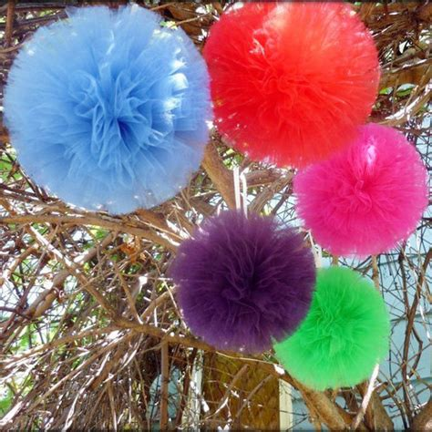 tulle pom pom centerpieces tulle pom poms centerpiece 10 inch 4