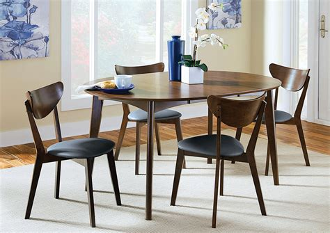 walnut dining table and chairs best buy furniture and mattress walnut dining table w 6 chairs