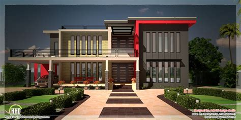house plans contemporary beautiful contemporary luxury villa with floor plan kerala home design and floor plans