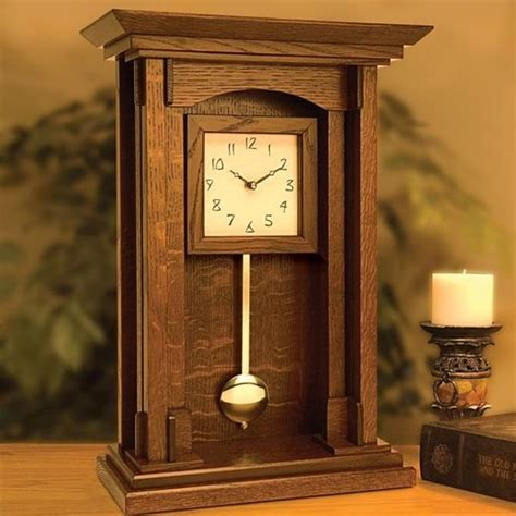 woodworking clock plans arts and crafts pendulum clock downloadable plan
