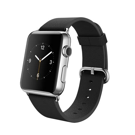 Apple 2015 Stainless Classic Buckle 38mm Silver With Apple 42mm Stainless Steel With Black Classic