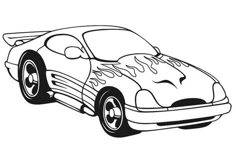 Sports Cars Coloring Pages With Regard To Really Encourage Sports Car Coloring Page