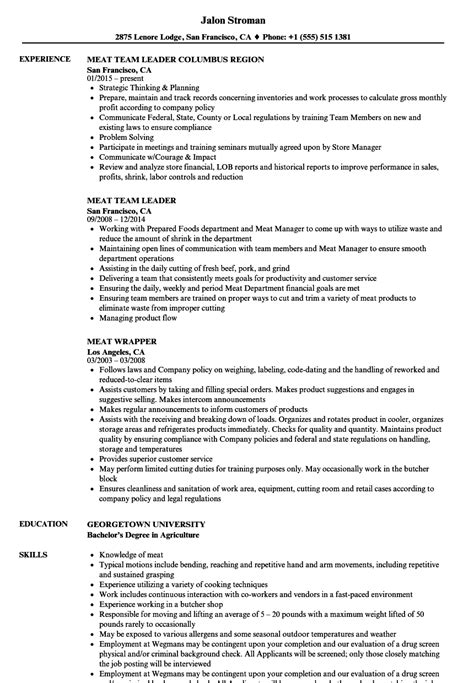 Collection of Job Description For Meat Cutter Butcher Resume Meat ...