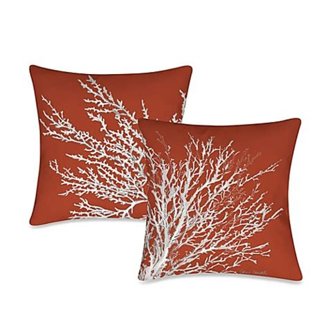pacific coast pillows bed bath beyond 19 inch outdoor throw pillow collection in coastal coral