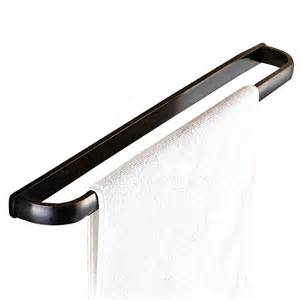 unique brass rubbed bronze single black towel bars