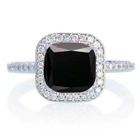 1 5 carat cushion cut classic black and