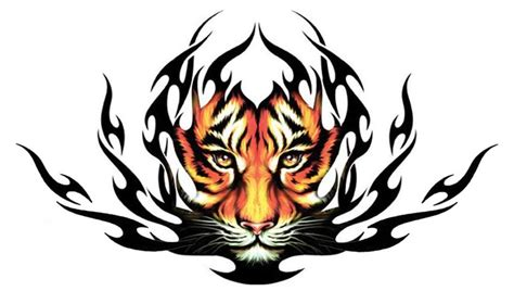 tribal tiger tattoos for men awesome orange tribal tiger design for
