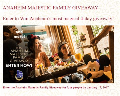 Family Sweepstakes - anaheim majestic family giveaway sweepstakes morning bubbles
