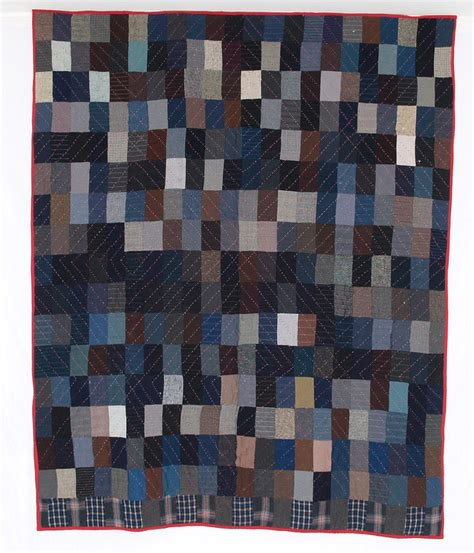 Wool Quilt Q8603 Wool Bricks Quilted In Log Cabin Barn Raising