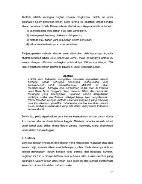 urutan membuat abstrak bahasa indonesia buku modul bahasa indonesia ditjen dikti