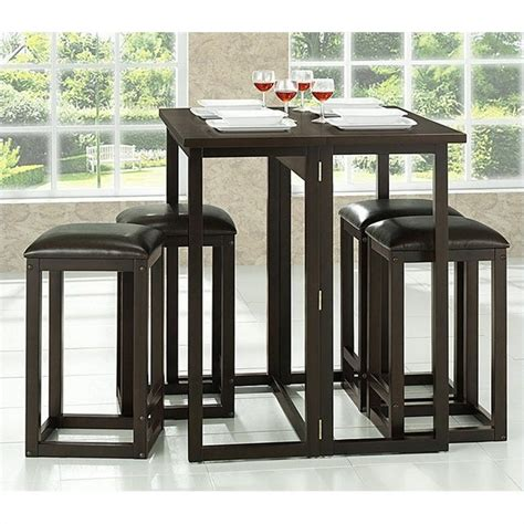 leeds collapsible pub table set in brown rt174 175 occ