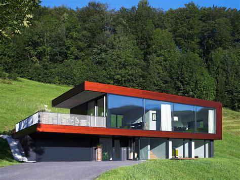 Haus Bauen Am Hang 4560 by Moosbrugger Bau Studies
