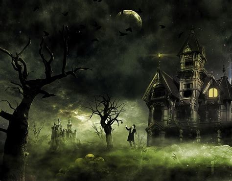 designing a haunted house create this eerie haunted house scene for halloween photoshop tutorials