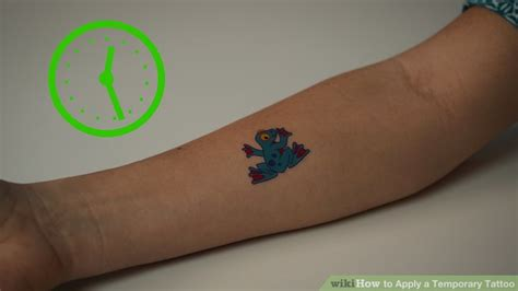 tattoo transfer paper wikihow how to apply a temporary tattoo 15 steps with pictures