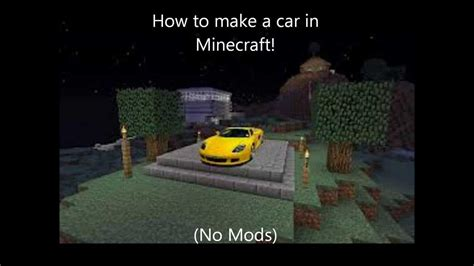 minecraft car that moves how to make a car in minecraft easy no mods youtube