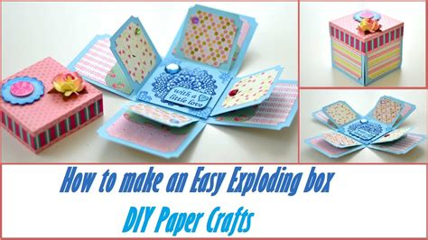 Scrapbook Exploding Box diy crafts how to make an easy exploding box basic