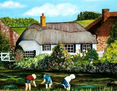 English Cottage Plans english country cottage sold painting by susan dehlinger