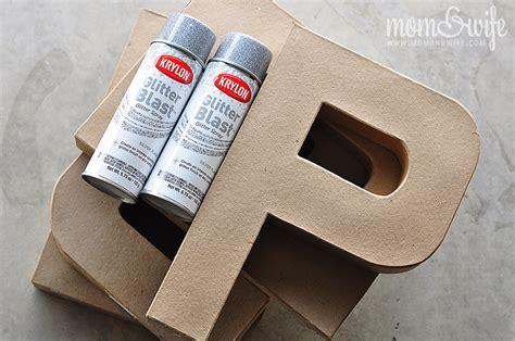 Glittered Cardboard Letters