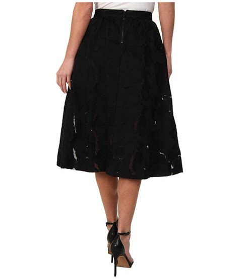 Midy Black sam edelman embroidered midy skirt black 1 6pm