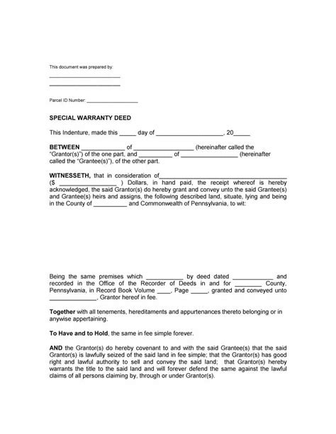 40 warranty deed templates forms general special