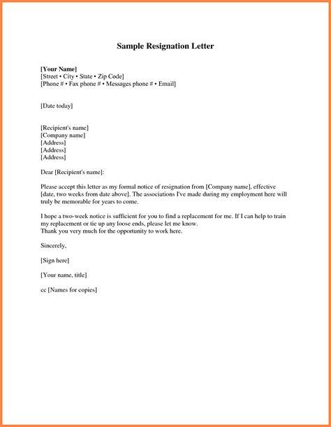 Notice Of Resignation Letter Pdf 9 resignation letter 2 week notice pdf notice letter