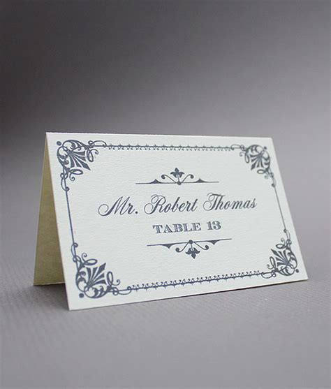 Free Place Card Templates Uk by Ornate Vintage Type Place Cards Print