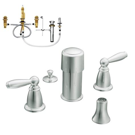 moen brantford 2 handle bidet faucet trim kit with valve
