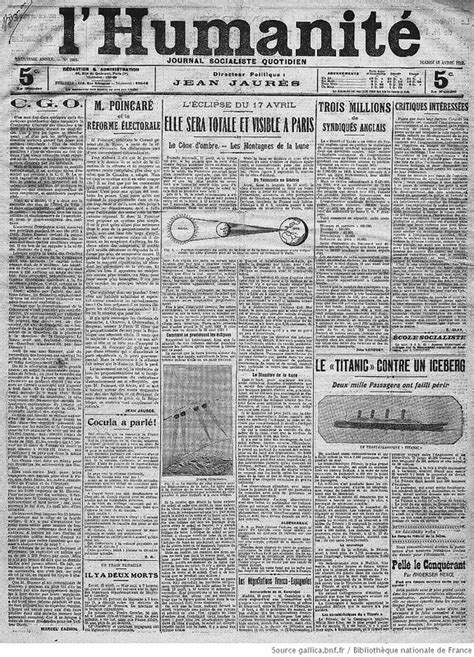 Paper From Newspaper - how historic newspapers covered the titanic disaster