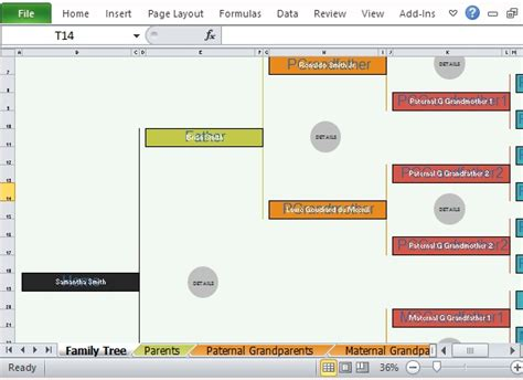 family tree excel template family tree template excel eskindria