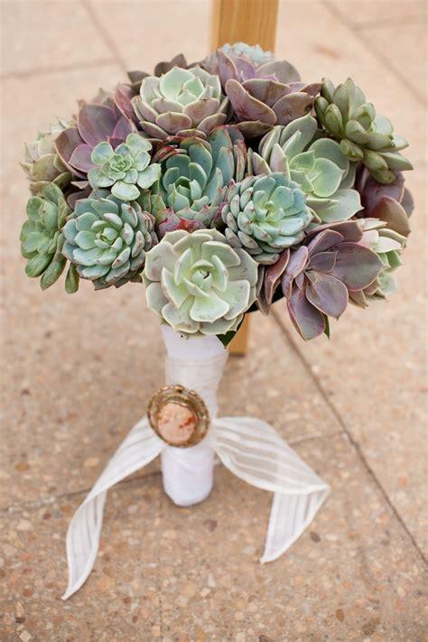 Wedding Bouquet With Succulents by Succulent Bouquet Flower Studio Bouquets