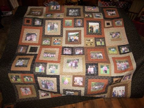 Family Quilt Ideas by Memory Quilt With Pictures Of Family For Our Reunion