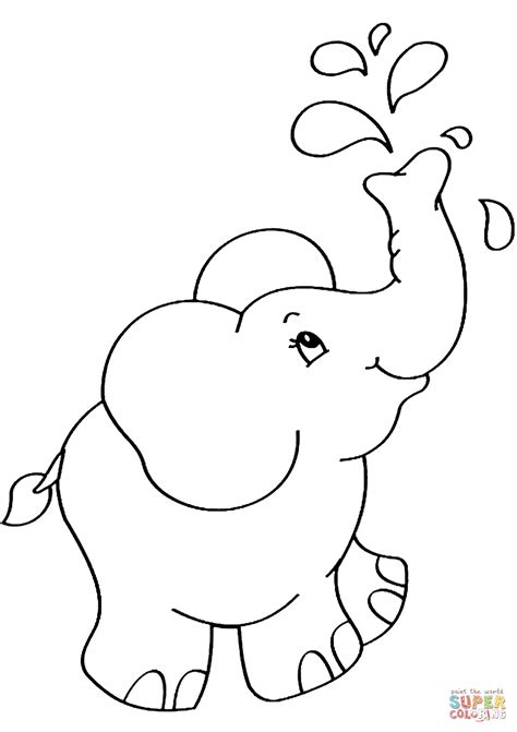 Elephant Coloring Page by Elephant Coloring Page Free Printable Coloring Pages